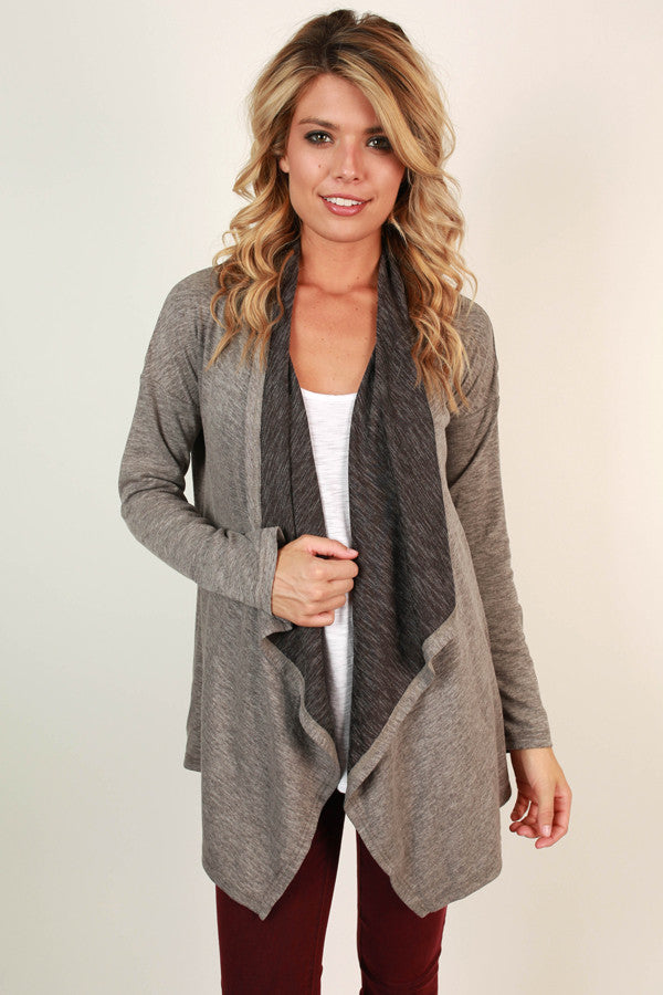 When Skies Are Grey Cardigan