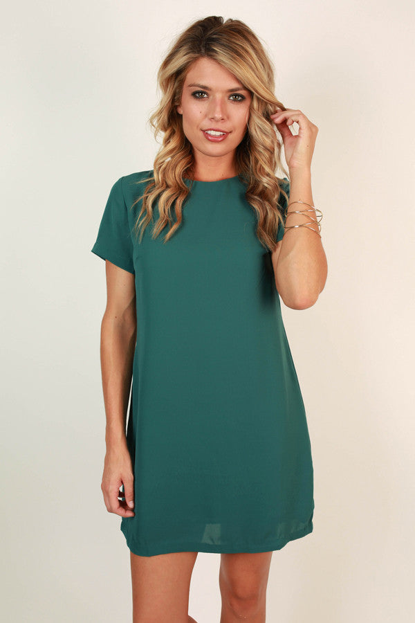 Hollywood Hills Shift Dress in Lush Meadow