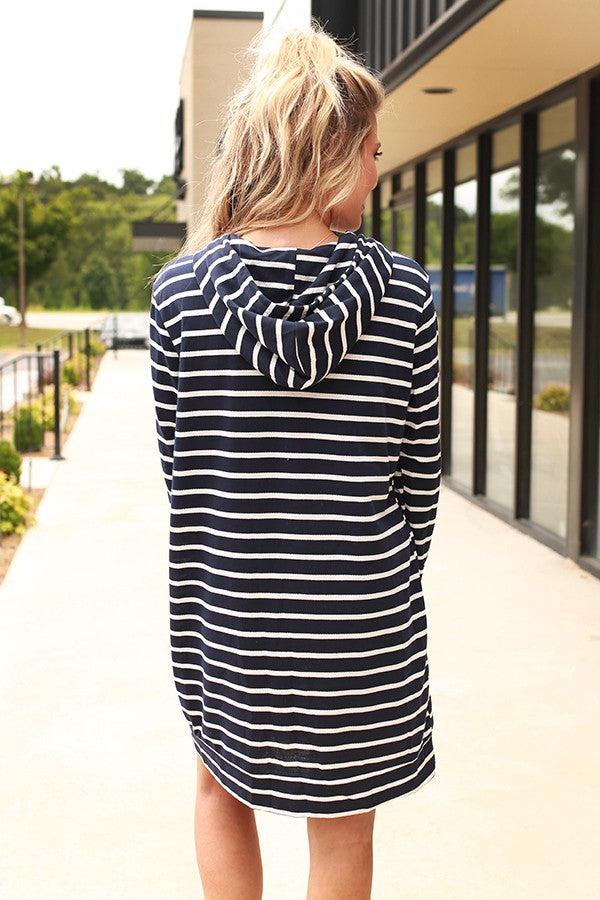 Why So Serious Stripe Tunic Hoodie