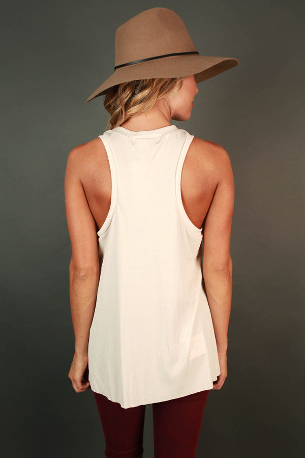 Keeping It Gorgeous Tank in Ivory