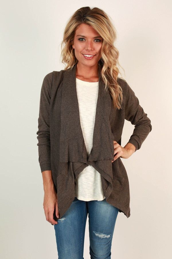 Keep Me Company Cardi in Smoky Black