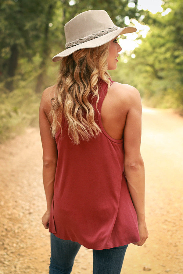 Keeping It Gorgeous Tank in Crimson