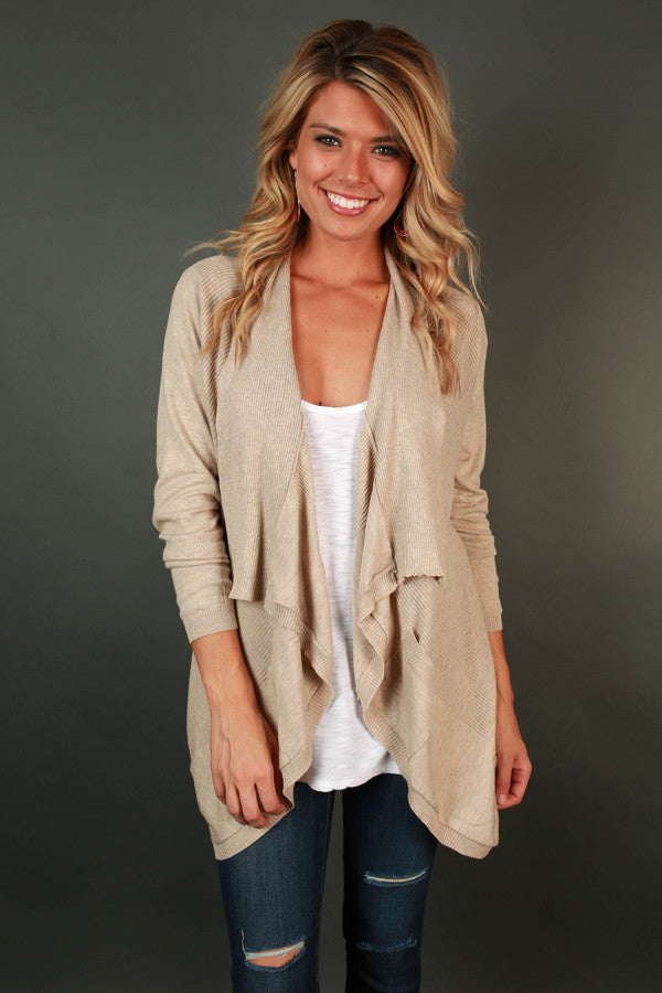 Keep Me Company Cardi in Birch