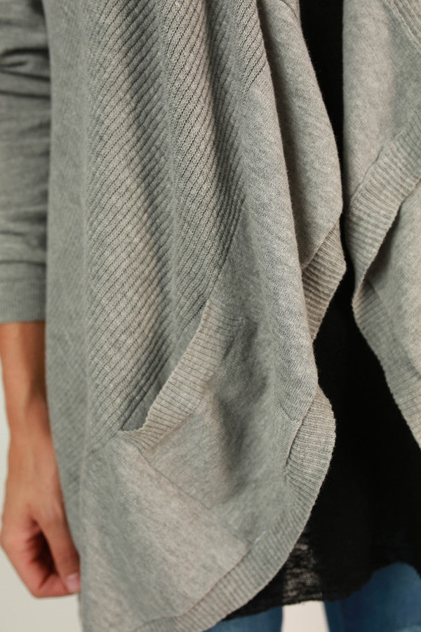 Keep Me Company Cardi in Grey