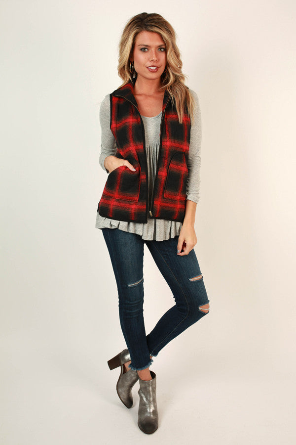 Love Story Plaid Vest