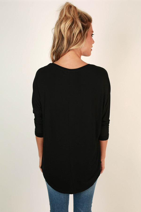 My Time Is Yours Tunic in Black