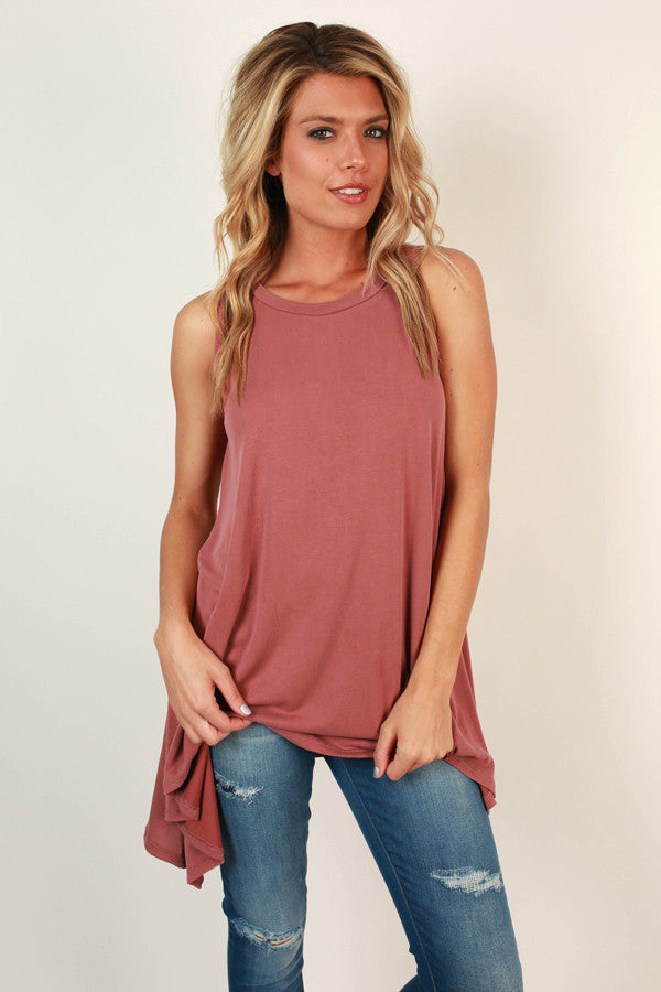 Crushing On You Tank in Rustic Rose