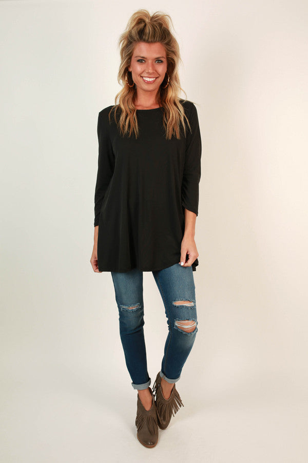 Style Of The South Shift Tunic in Black
