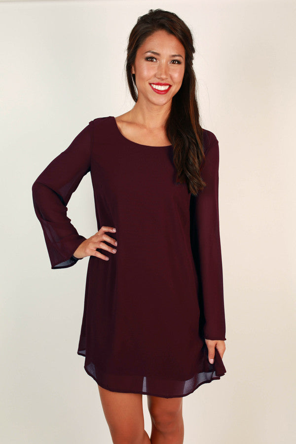A Southern Season Shift Dress in Windsor Wine