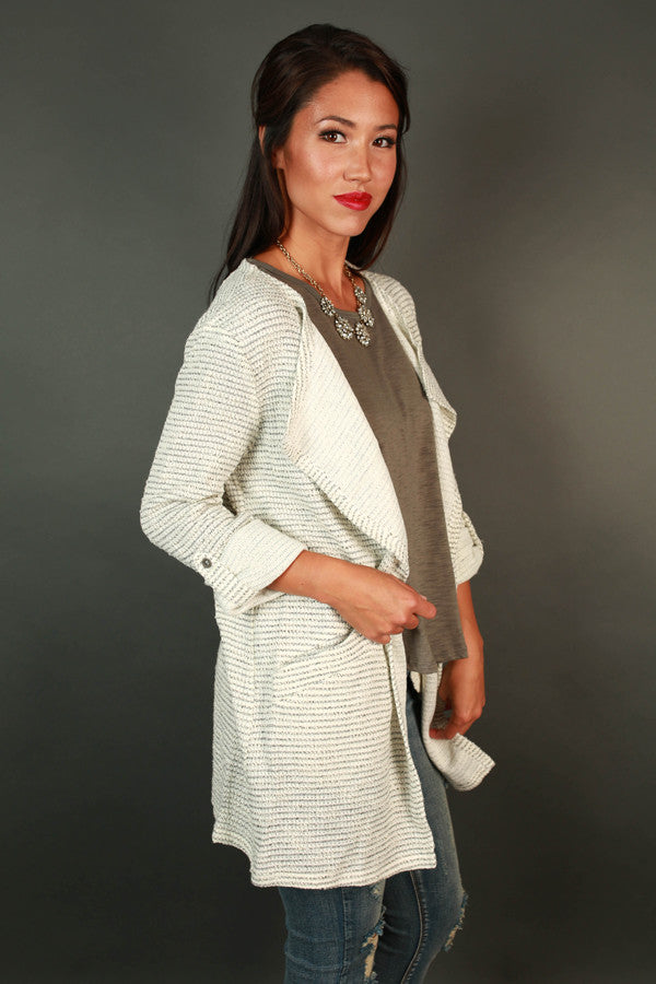 First Class To France Cardigan