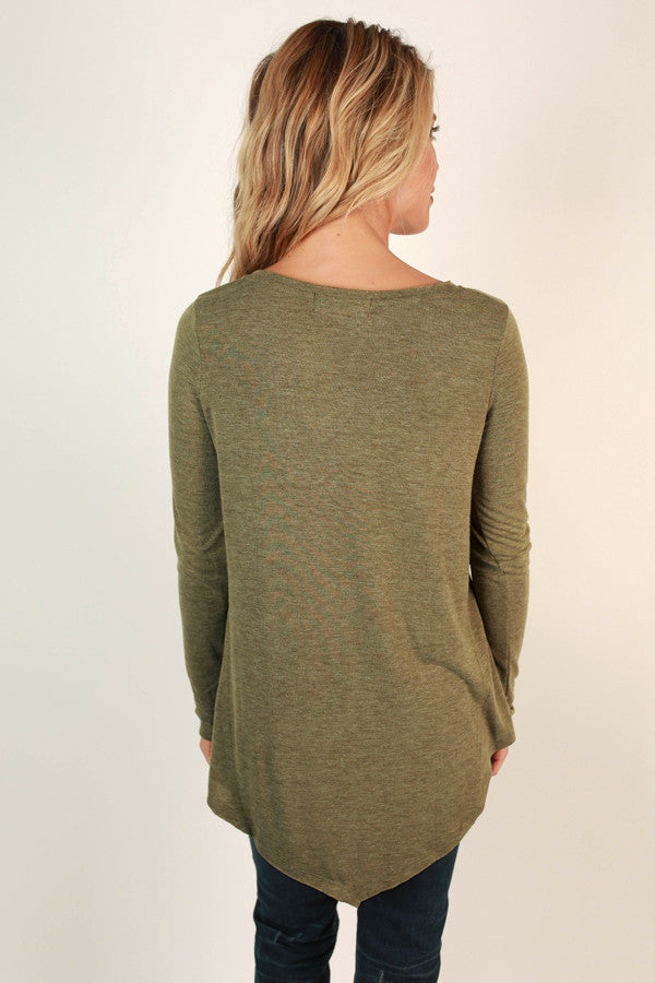 Fond Of Fashion Week V-neck Tee in Sage