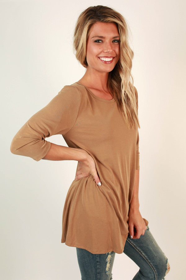 Style of the South Shift Tunic in Khaki