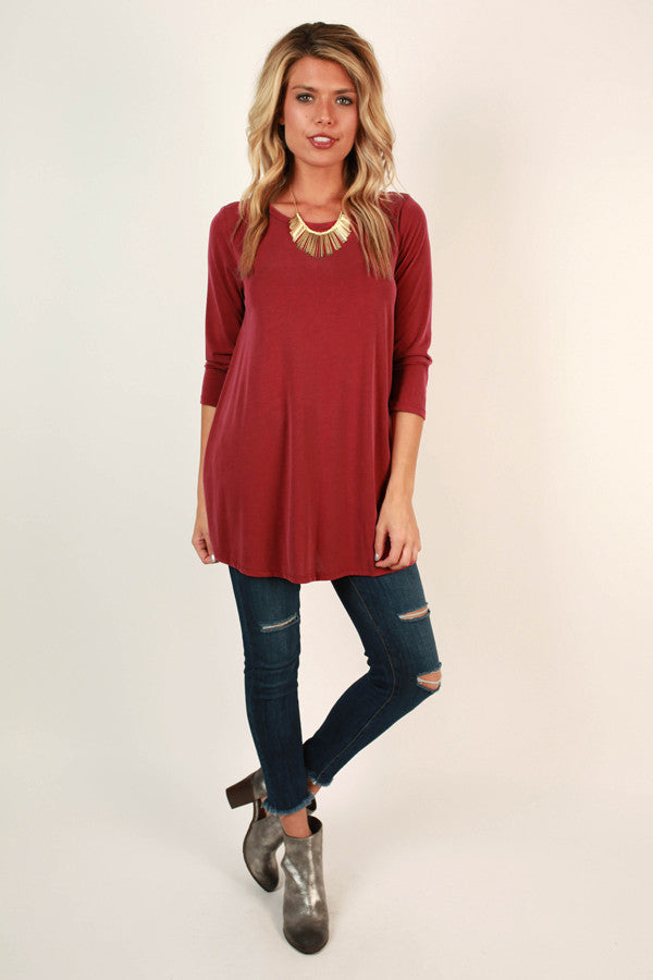 Style of the South Shift Tunic in Aurora Red
