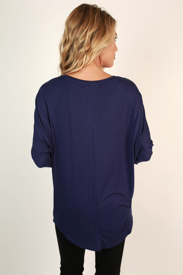 My Time Is Yours Tunic in Navy