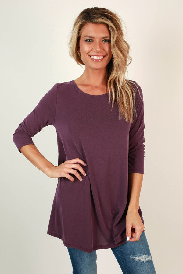 Style of the South Shift Tunic in Purple