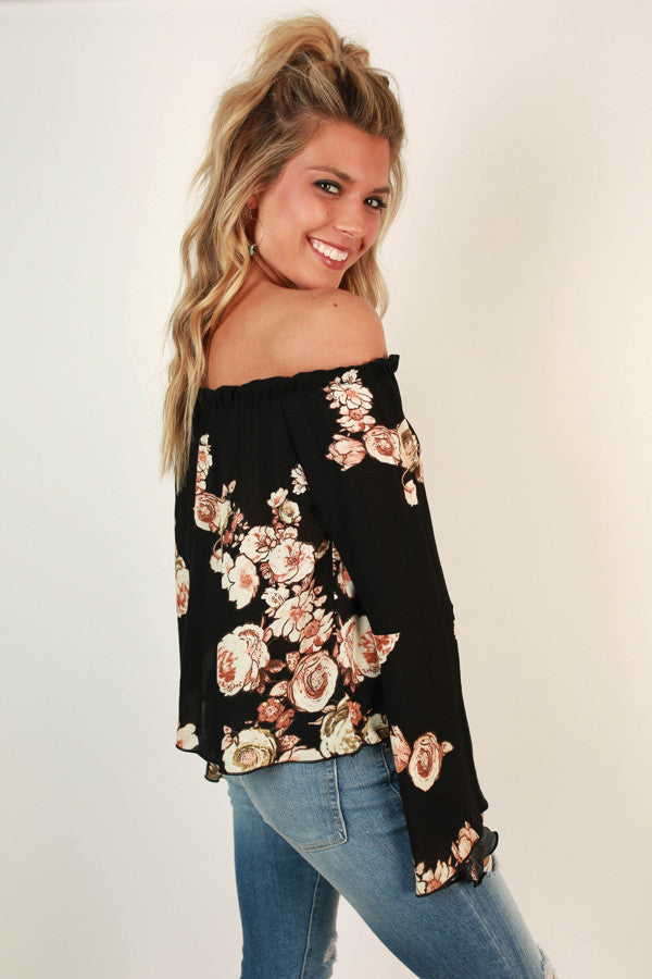 Fun Times in Floral Off Shoulder Top
