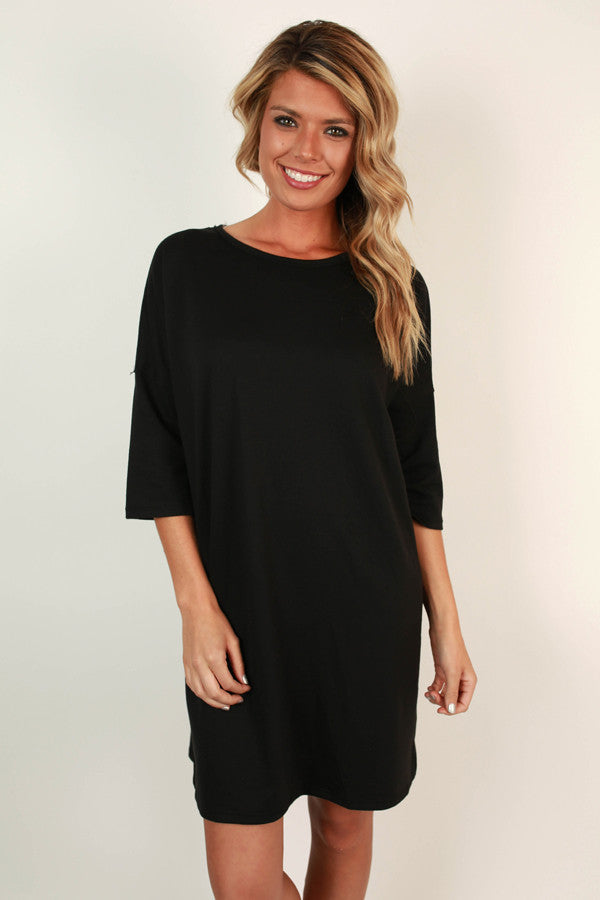 Taking Chances Shift Dress in Black