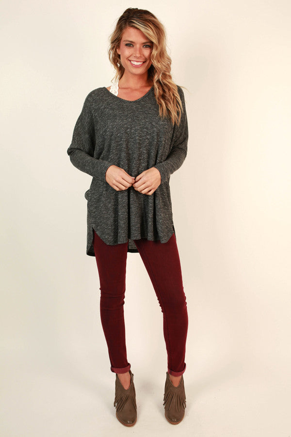 Bayside Beauty Tunic in Charcoal