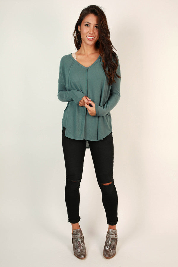 Cute and Cozy Top in Lush Meadow