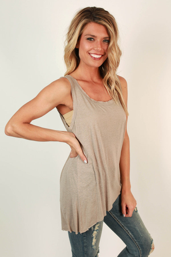 Main Focus Shift Tank in Taupe