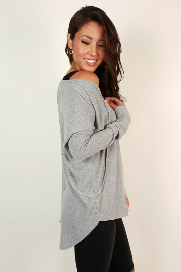 Cute and Cozy Top in Grey
