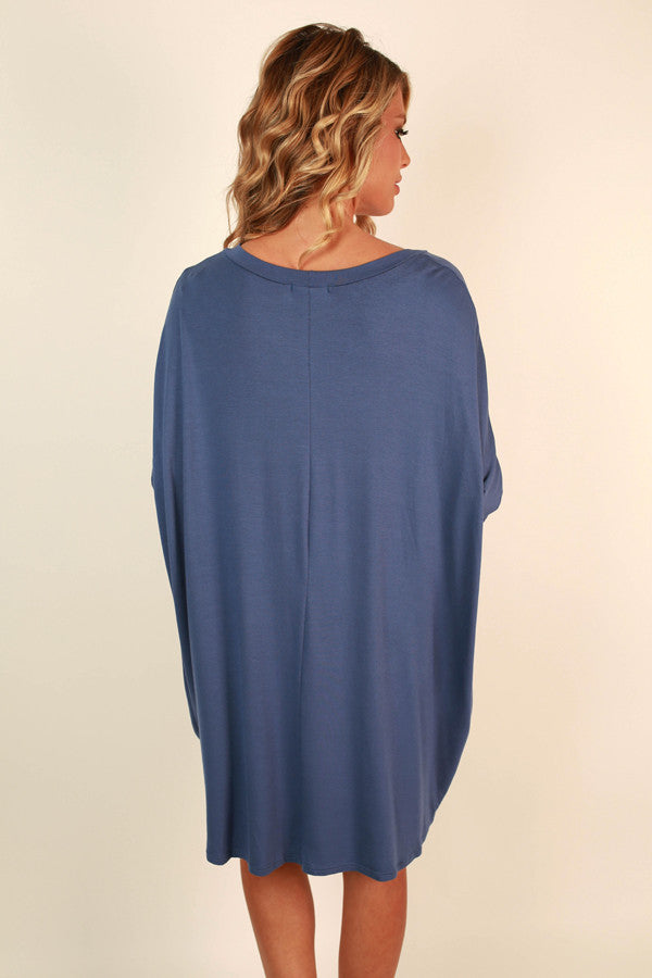 Mind Made Up Shift Dress in Cobalt Blue