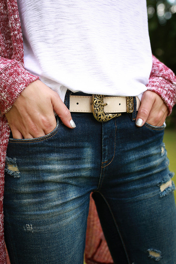 Best In Beauty Belt in Ivory