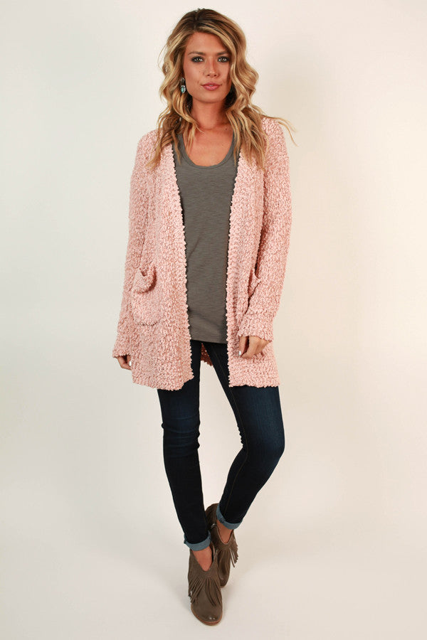 Sweet Retreat Cardigan in Blush
