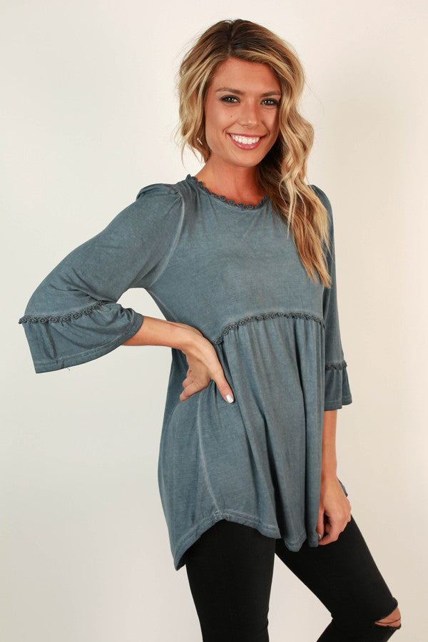Burst Of Energy Babydoll Top in Riverside