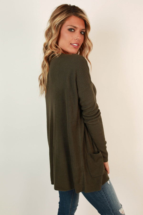 Perfect Timing Tunic Sweater in Hunter Green