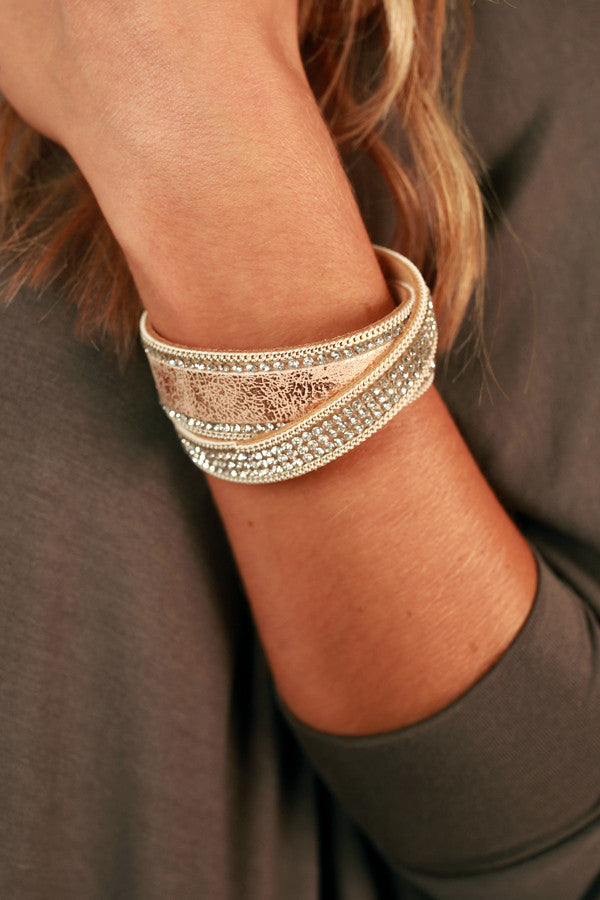 Happy State of Mind Magnetic Bracelet in Rose Gold