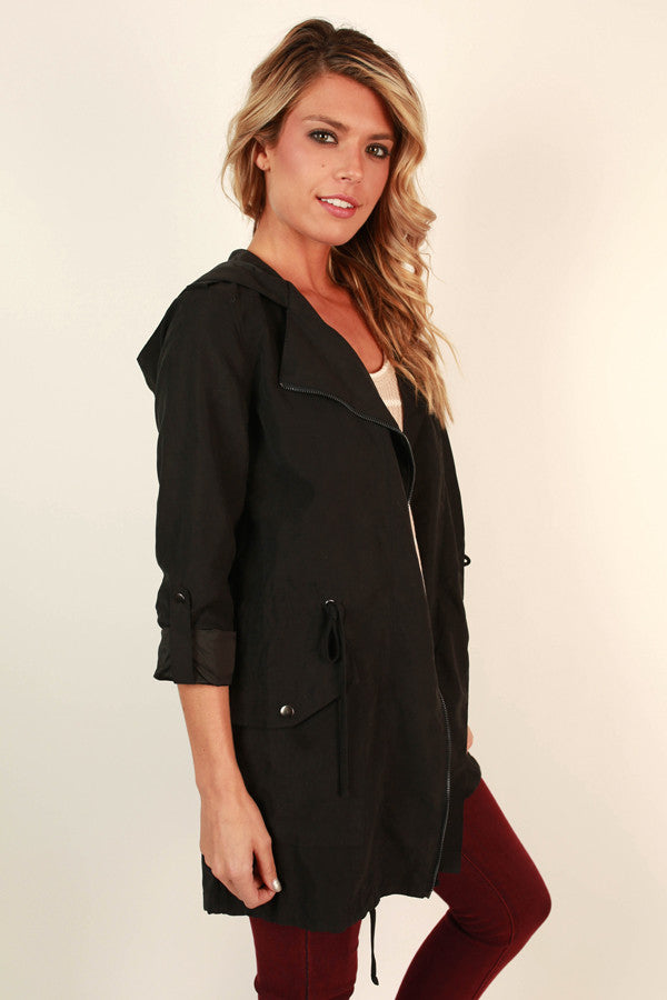 Cozy in Manhattan Lightweight Jacket in Black