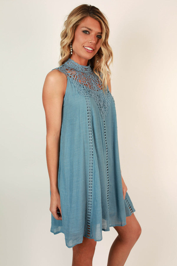 Bliss & Love Shift Dress in Airy Blue