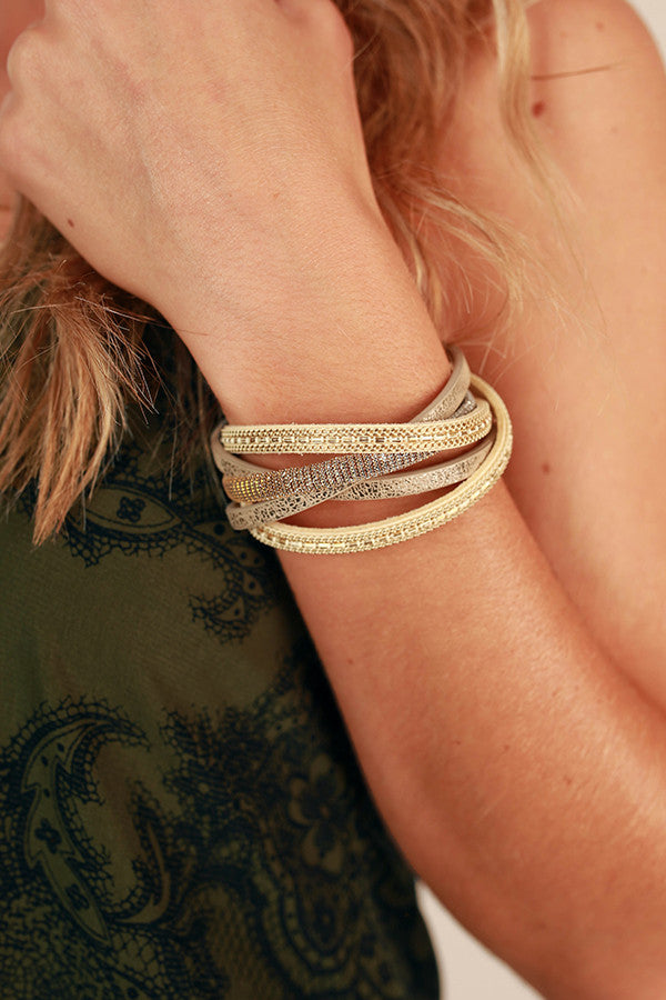 Don't Let Go Magnetic Bracelet in Gold