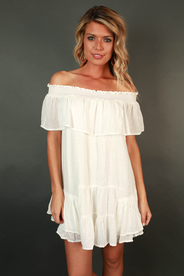 Into The Sunset Off The Shoulder Dress