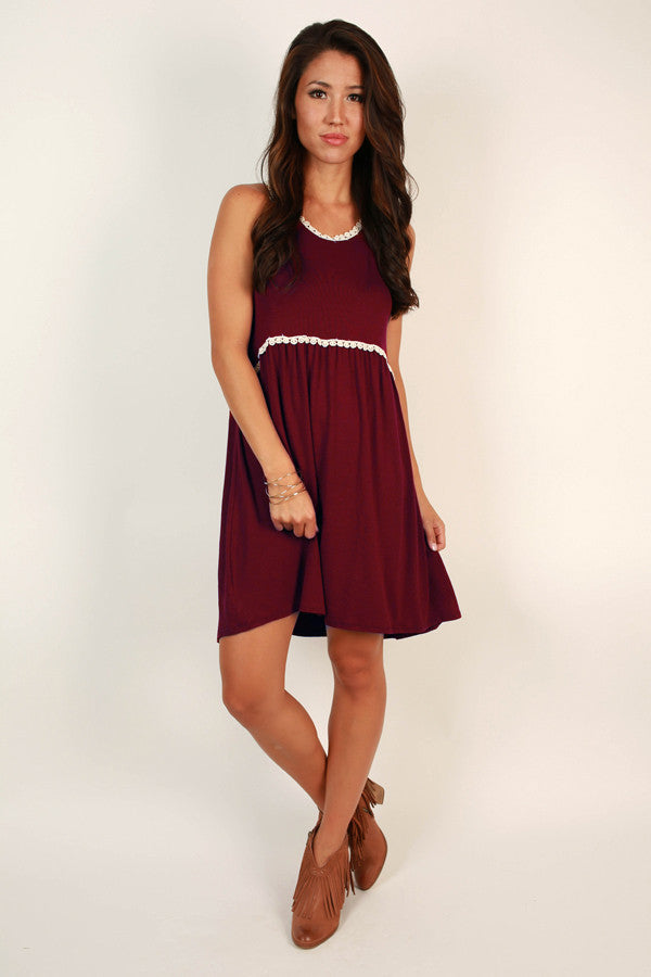 Fashion Queen Shift Dress in Wine