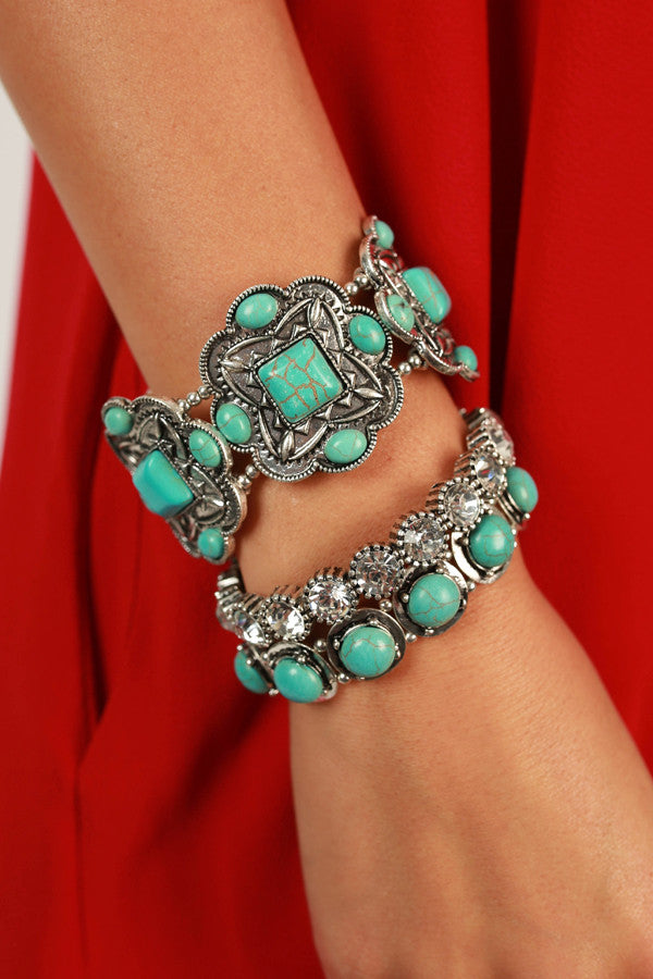 Happy Hour Hottie Bracelet Set in Silver