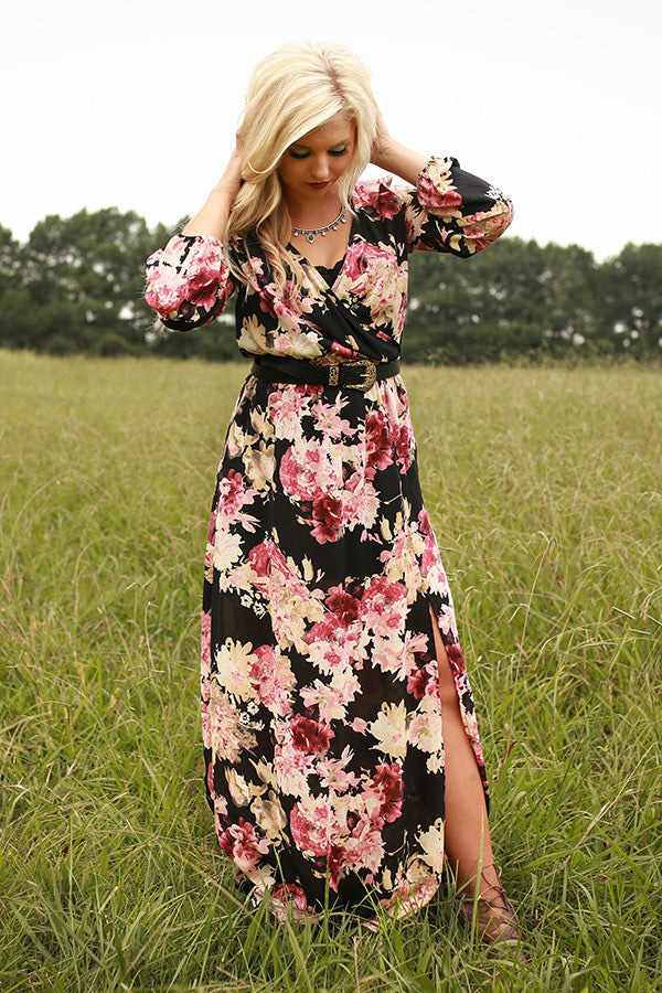 Falling For You Floral Maxi