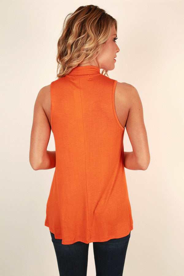 Hometown Sweetheart Shift Tank in Persimmon