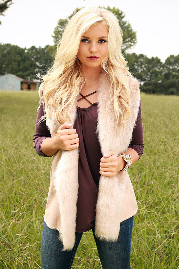 Fifth Avenue Faux Fur Vest