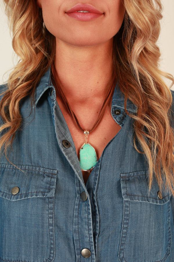 Turquoise Treat Necklace