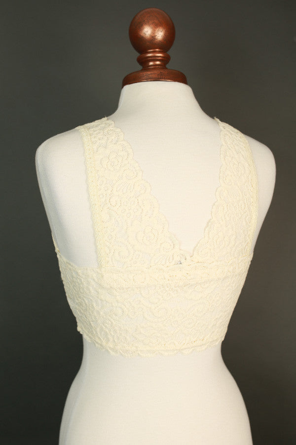 Everyday Essential Padded Lace Bralette in Cream