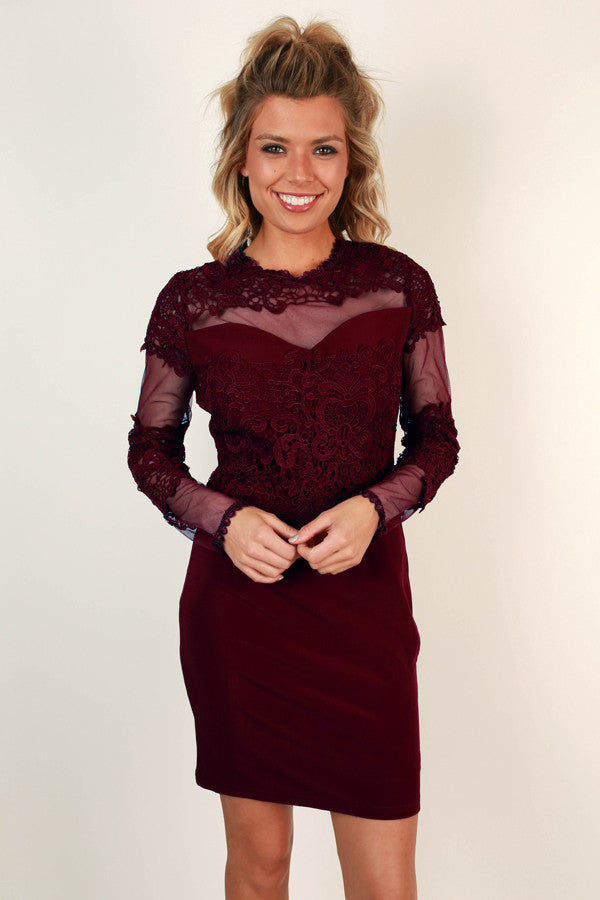 Merlot In Manhattan Dress