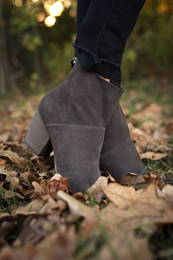 Kind Heart Suede Bootie in Fog