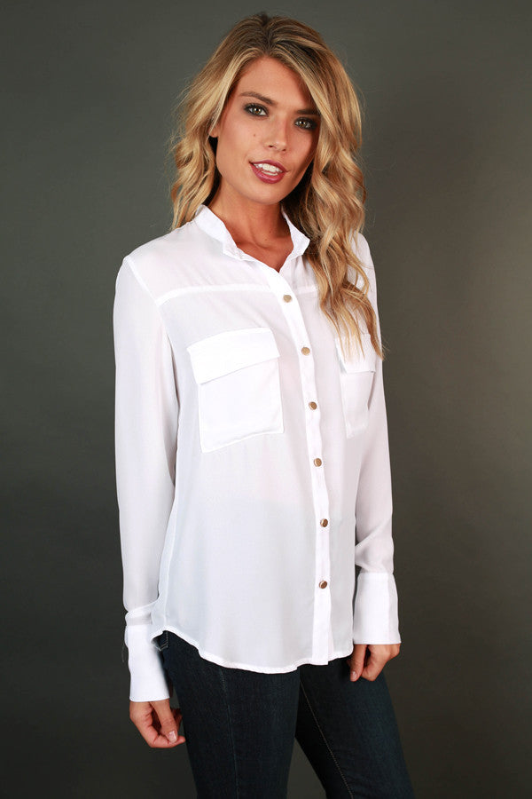 Sweet Success Button Up Top