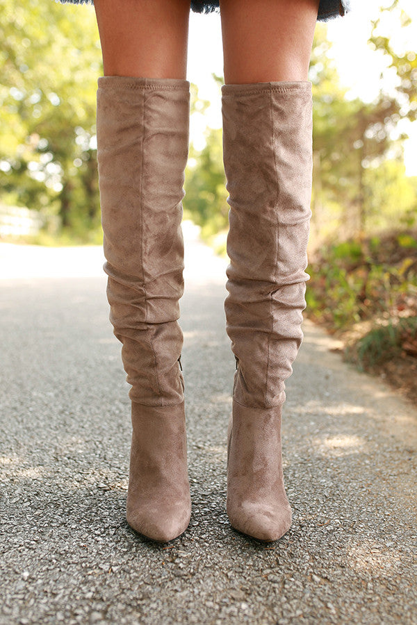 Stunning Suedette Knee High Boot