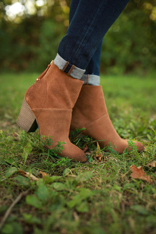 Kind Heart Suede Bootie in Copper