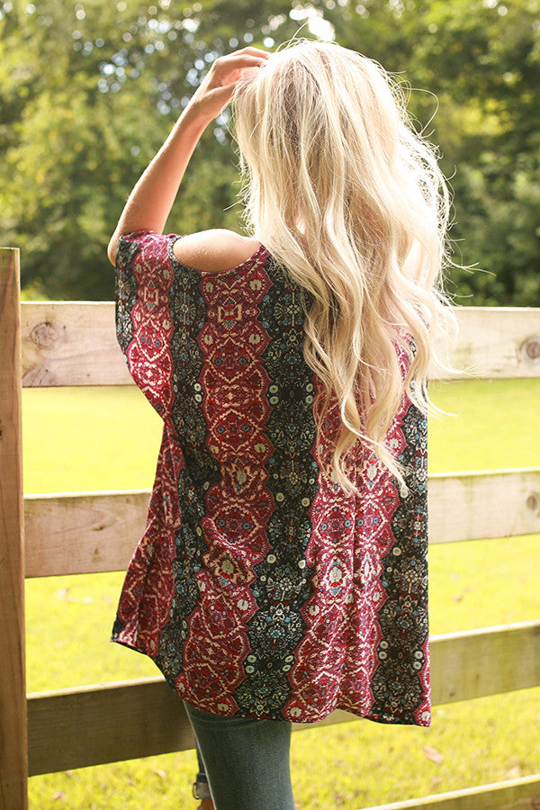 The Waverly Tunic in Vineyard Wine