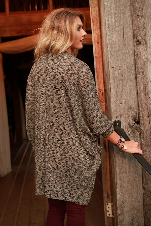 The Blakely Cardigan in Latte Black