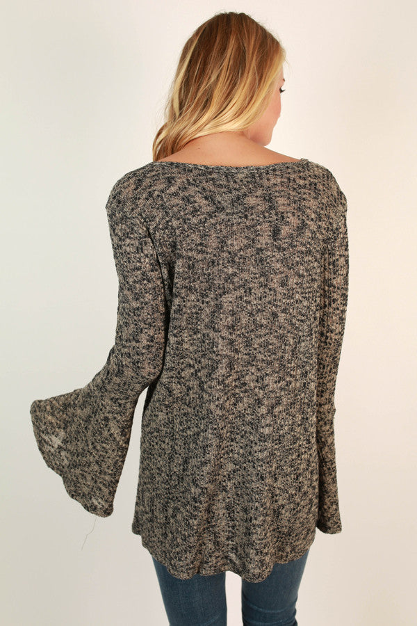 The Lively Tunic Sweater in Latte Black